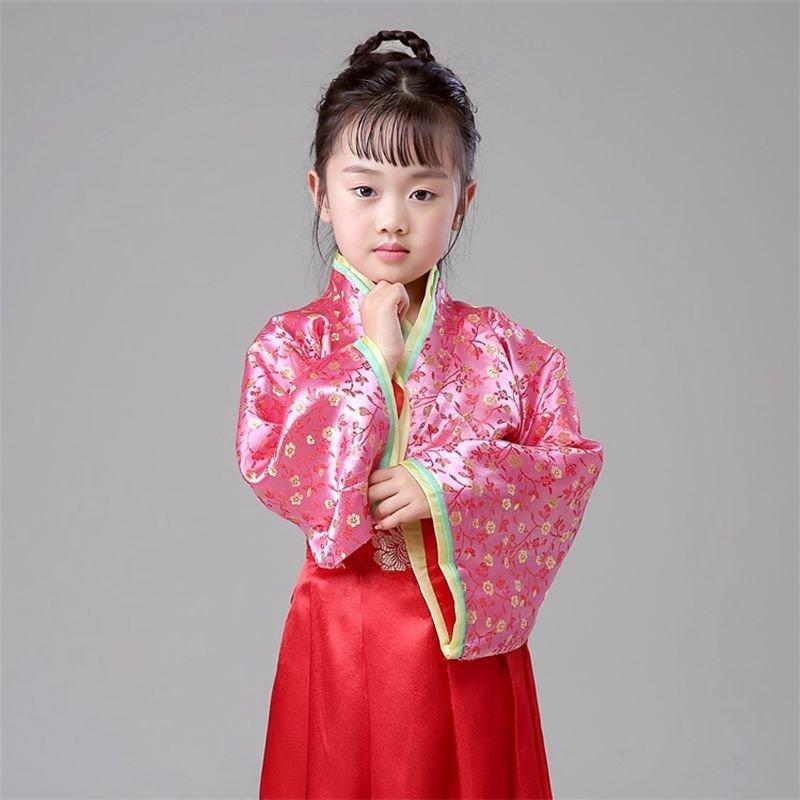 时光叙 小芈月儿童唐装女童古装表演服古代公主古筝汉服影楼写真演出