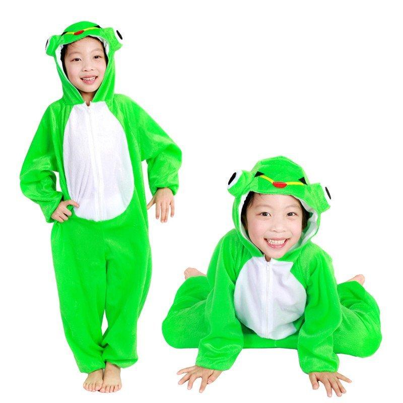 欢乐派对 圣诞节儿童动物表演演出服装卡通动物服饰衣服连体衣可爱