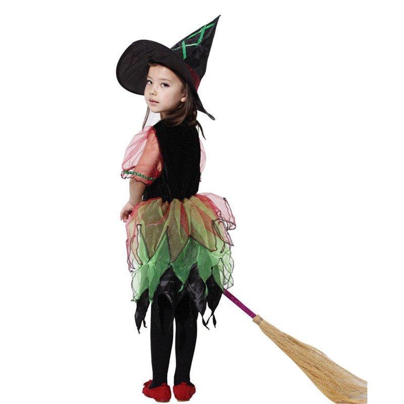 欢乐派对元旦儿童表演服装cosplay化妆舞会服饰巫婆衣服女童优雅小图片