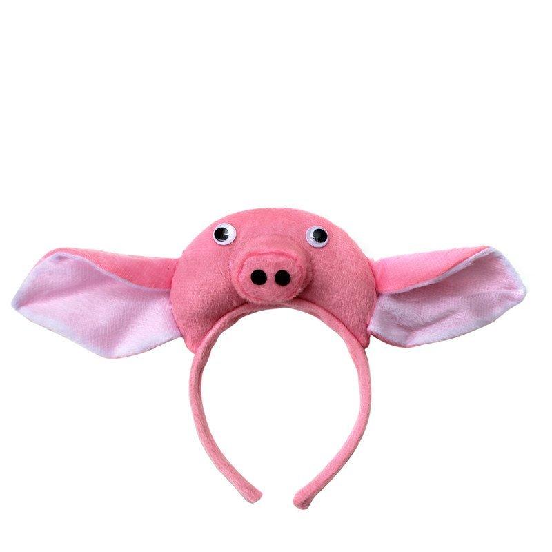 欢乐派对年会晚会动物表演演出头饰道具小猪耳朵头饰道具小猪头饰头箍