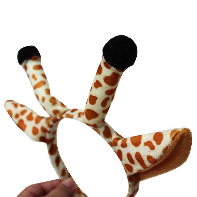 欢乐派对儿童表演演出头饰道具动物头饰道具长颈鹿头饰头箍发箍发卡头