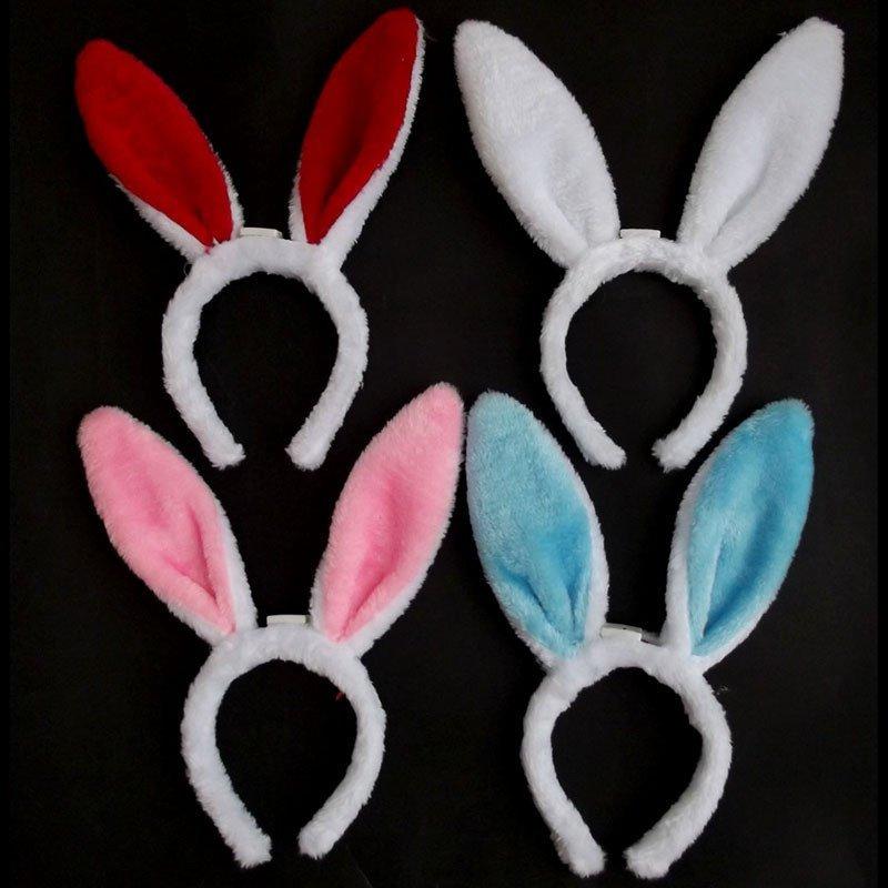 欢乐派对年会晚会新年小兔子头饰表演道具兔子耳朵幼儿兔子小白兔动物