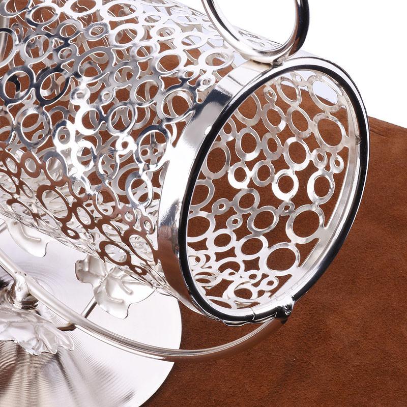 莱珍斯不锈钢镀银手提红酒架欧式葡萄酒架创意酒架可手提