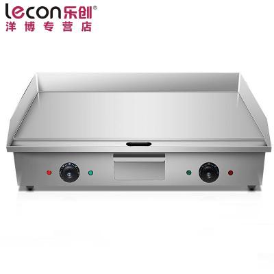 lecon/乐创洋博 820手抓饼机器 电扒炉商用 铁板鱿鱼机器 铁板烧设备