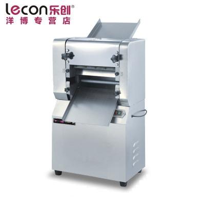 lecon/乐创洋博 30型商用不锈钢压面机 电动揉面压皮机面皮机制皮机压饺子皮机