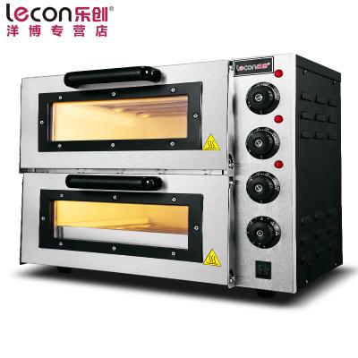 lecon/樂創洋博 商用烤箱 PO2PT電烤箱商用 烤爐雙層蛋糕面包大烘爐設備 二層披薩烤箱
