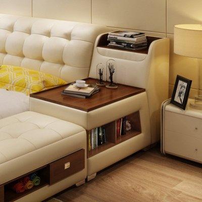 8*2.0米】床(含榻榻米) 2个床头柜 粽椰床垫