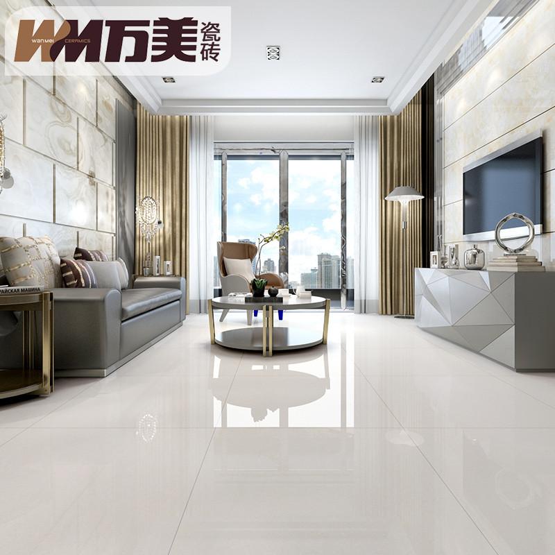 万美瓷砖 现代简约玻化砖抛光砖客厅地砖800x800防滑