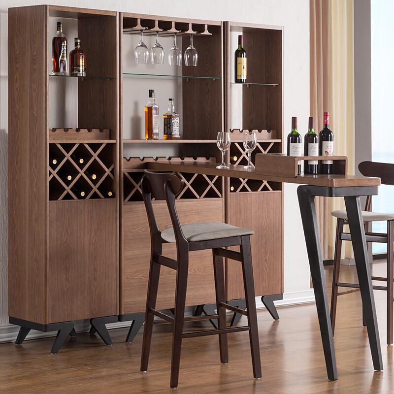 慕尼思丹酒柜实木酒柜北欧小户型吧台隔断柜客厅装饰柜