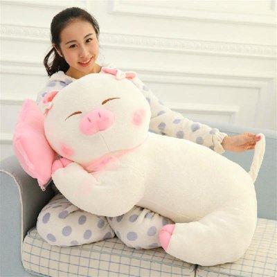 心心向绒 可爱大号趴趴猪公仔睡觉抱枕 毛绒玩具三顺麦兜睡枕猪布娃娃