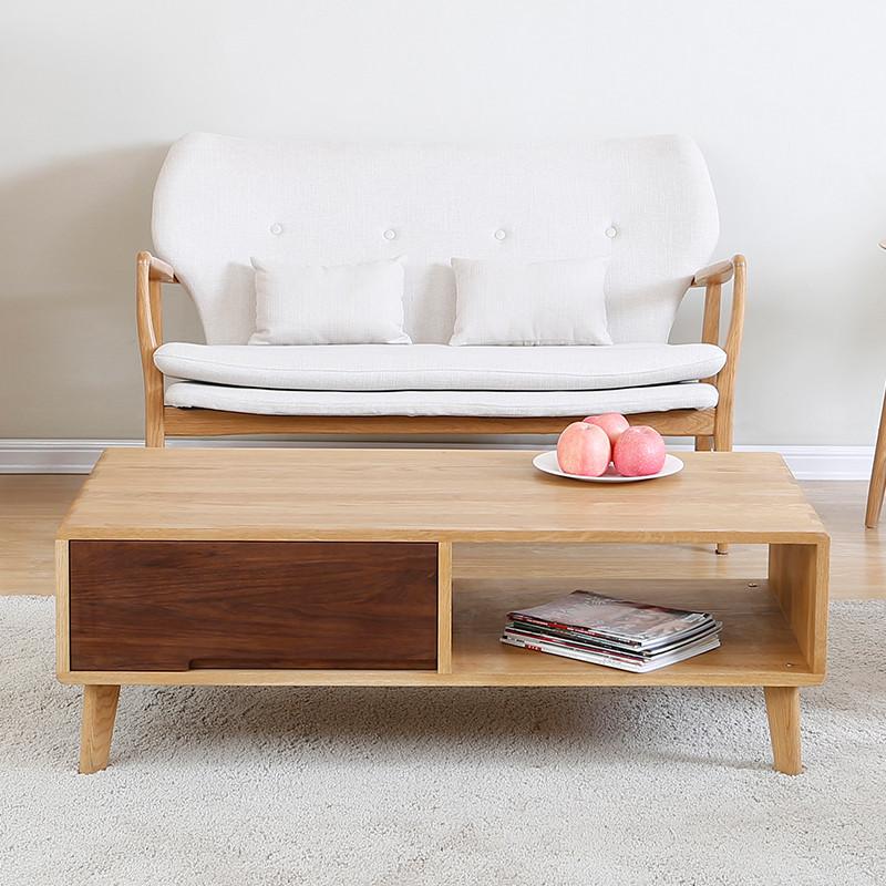 卡菲纳 北欧风格 茶几 纯实木茶几 北欧现代 客厅家具