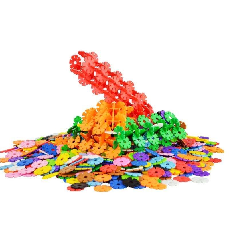 网童奇贝 12色雪花片 宝宝塑料拼插积木儿童 早教益智