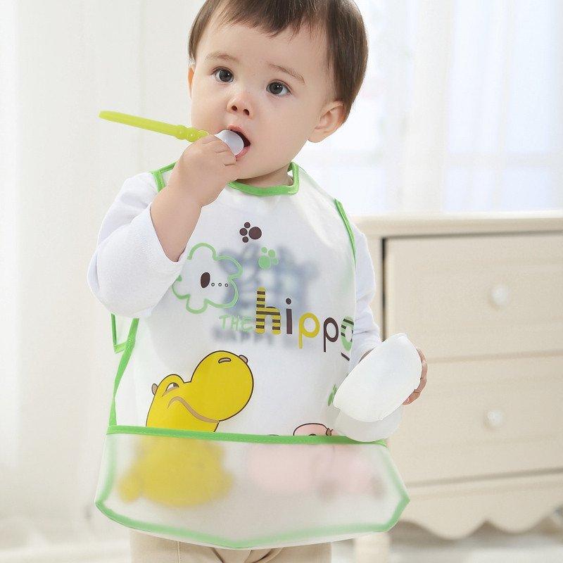 玛利亚湾 婴儿反穿衣/防水围兜/宝宝罩衣儿童吃饭围兜
