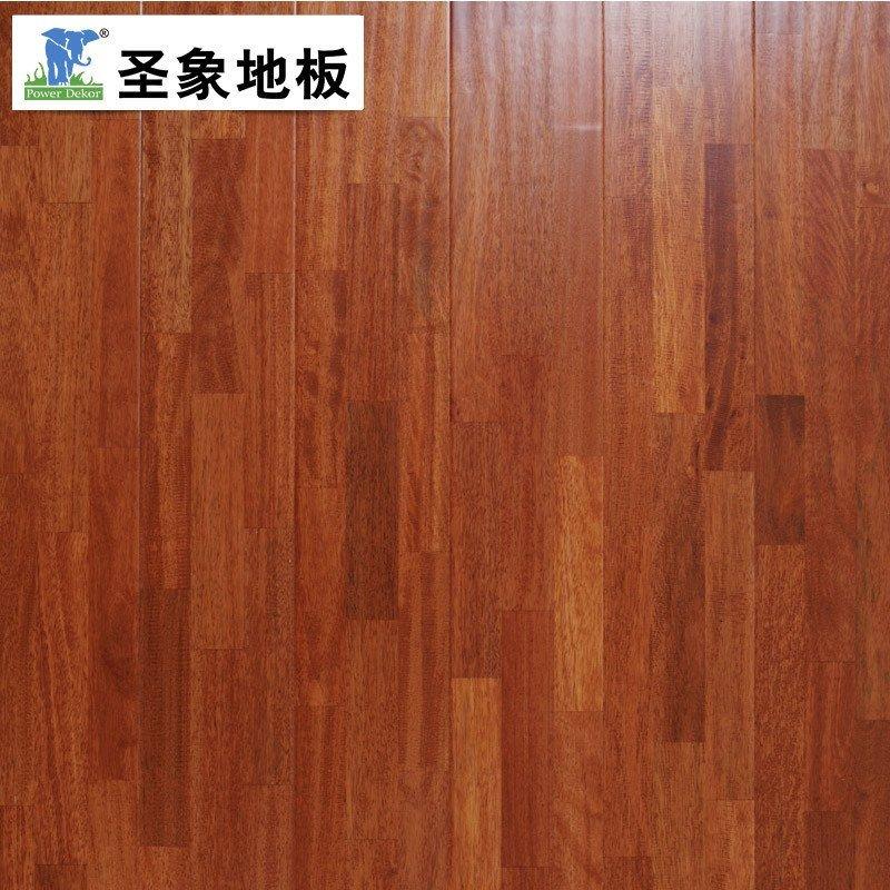 圣象地板 三层实木复合地板兰屿番龙眼手刮仿古可地暖