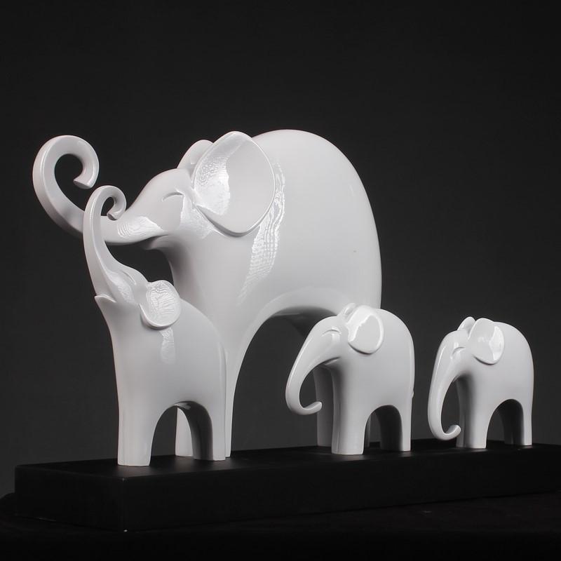 创意客厅招财象摆件大号现代简约家居树脂工艺装饰品客厅玄关摆设