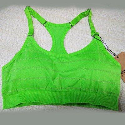 天堂专业跑步运动内衣无钢圈防震大码文胸胸罩运动背心式女 75a 绿色