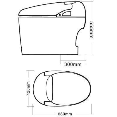 智轩智能马桶 zx-801b 无水箱设计 简约美学典范 平滑