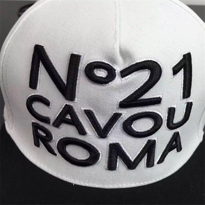 丹杰仕韩版新款欧美立体字母刺绣平沿帽嘻哈帽男女棒球帽鸭舌帽子