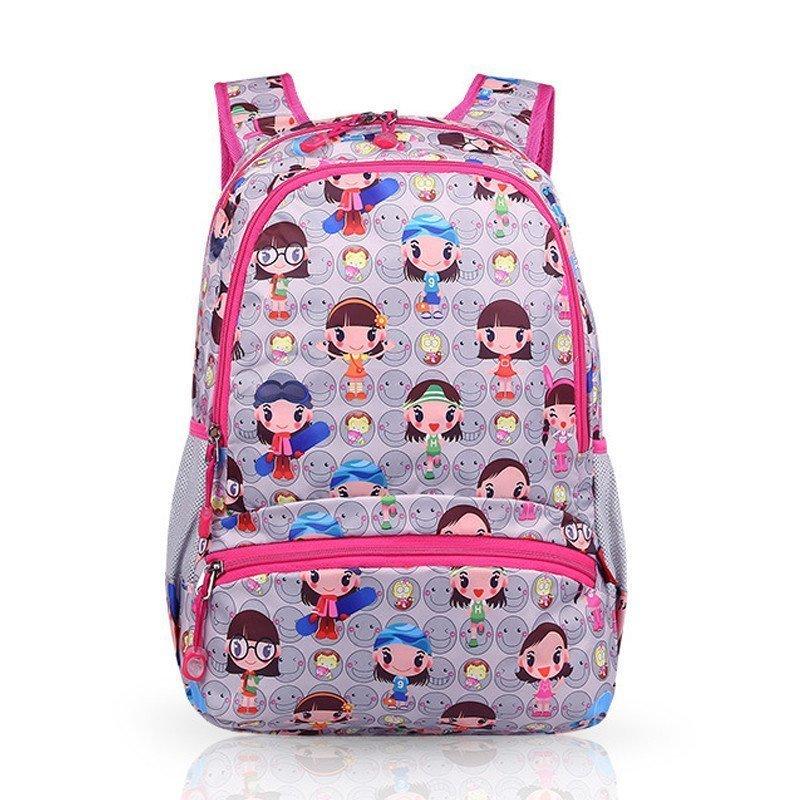 小学生书包可爱女童背包双肩包 韩版儿童减负包包 超轻 小学生1-3-6年