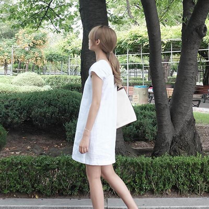 羊致2016新款韩版可爱小清新单排扣连衣裙女