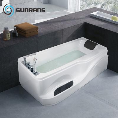 尚雷仕小户型浴缸 成人情侣家用冲浪按摩浴缸恒温加热卫生间亚克力浴盆