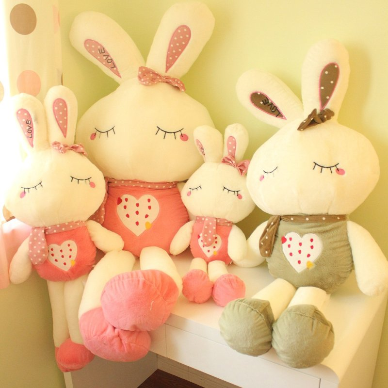 免邮可爱米菲兔子小白兔公仔毛绒玩具布娃娃生日结婚情人节礼物品