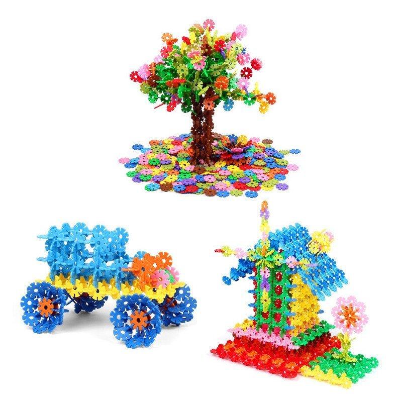 大号益智塑料立体拼图拼插拼装女孩儿童玩具男孩 小号收纳袋装400片