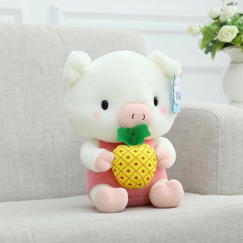 正版可爱水果小猪毛绒玩具公仔布娃娃