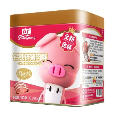 方廣零食營養鈣鐵鋅豬肉酥100g