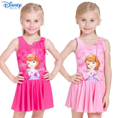 迪士尼(Disney)苏菲亚公主儿童宝宝泳衣速干卡通连衣裙游泳衣女童连体泳装