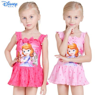 迪士尼(Disney)苏菲亚公主儿童速干卡通泳衣连衣裙游泳衣女童宝宝连体泳装