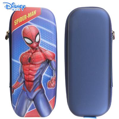 迪士尼(Disney)儿童小学生铅笔盒大容量3D双层立体压模笔袋 MA45071蜘蛛侠蓝色
