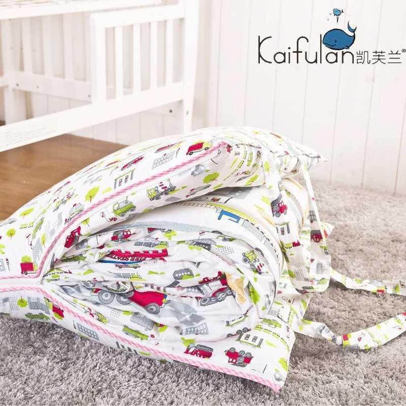 幼儿园男女宝宝床品三件套 韩式可爱风拎包式三件套 全棉被套枕套床垫