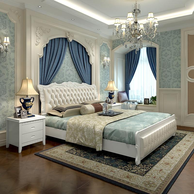 5m 大床铺 收纳储物高箱床 欧式床婚床 软包床皮床 现代简约卧室图片
