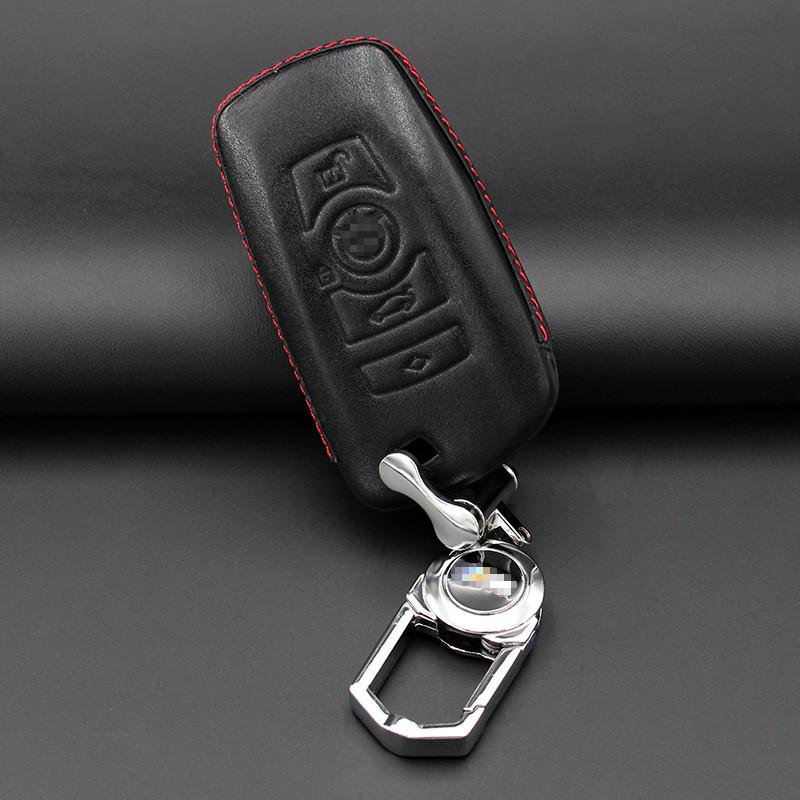 传枫 汽车钥匙包真皮男女士宝马3系5系7系x1x3汽车钥匙套钥匙扣钥匙壳
