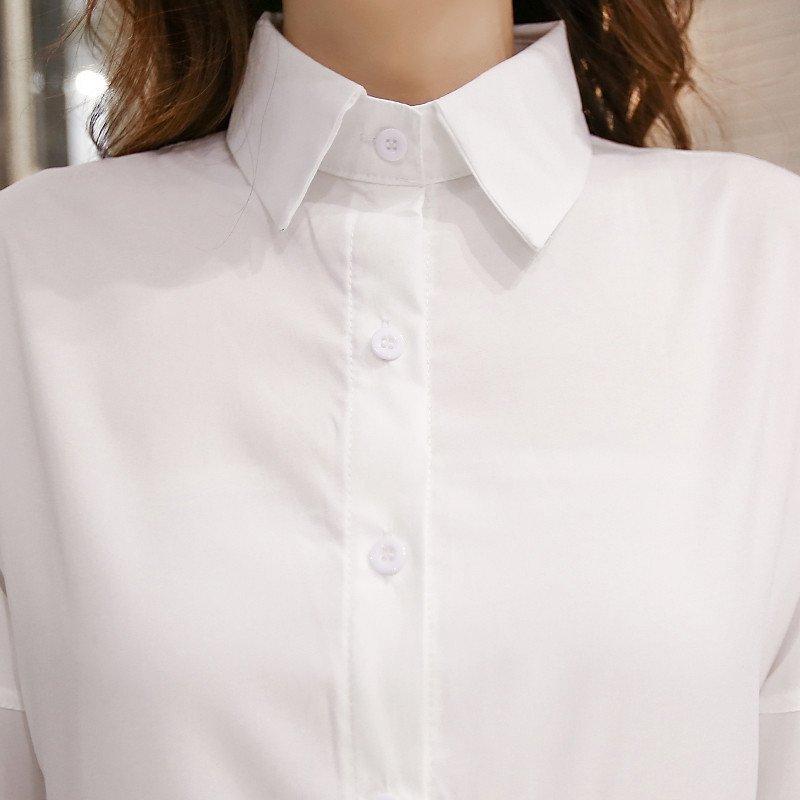 宽松长款衬衫长袖