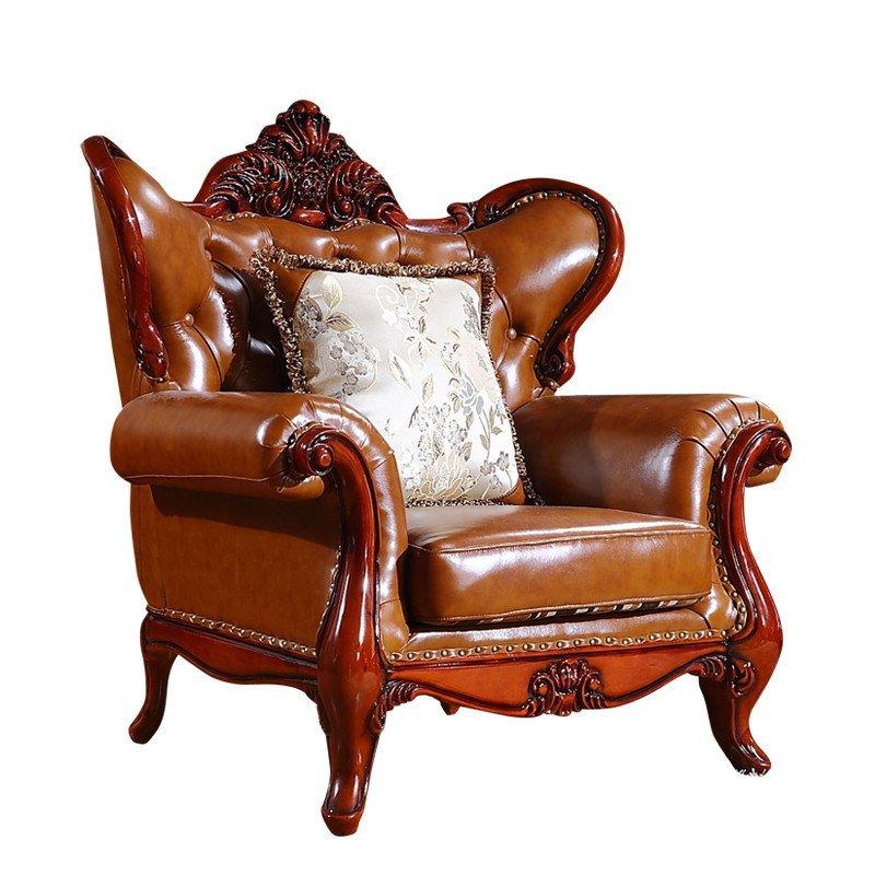 奥跃汇龙欧式沙发真皮实木雕花 布艺沙发可定制