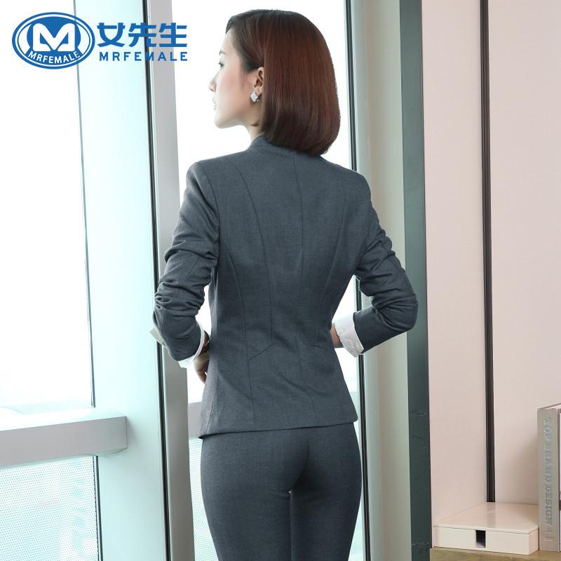 【女先生西服套装】秋冬新款长袖西服女装职业装套裙毛料外套西装西裤