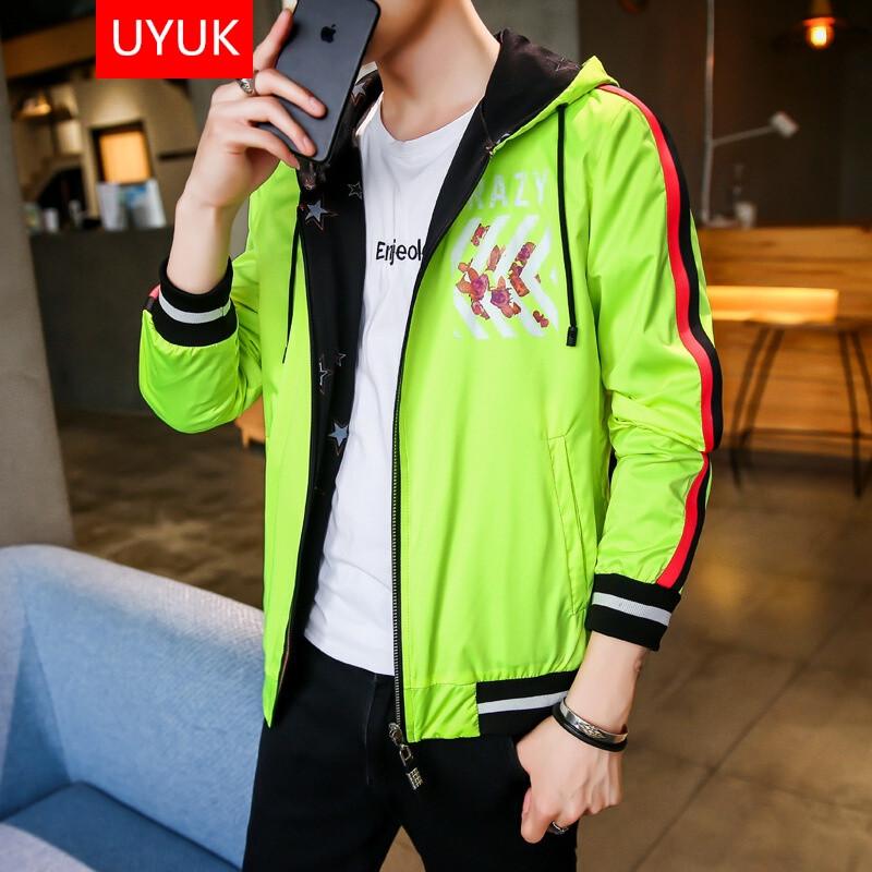 UYUK2017新款初中秋季外套穿男装男夹克初中事过最做双面的败家图片
