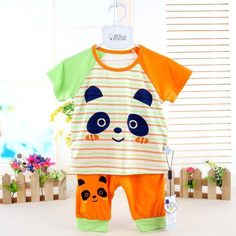 人之初儿童短袖t恤套装可爱卡通宝宝套装夏季婴儿衣服