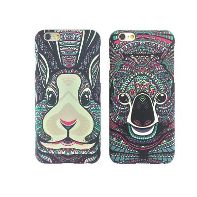 sauk iphone6/6s手机壳 苹果磨砂夜光动物浮雕图腾彩绘保护套