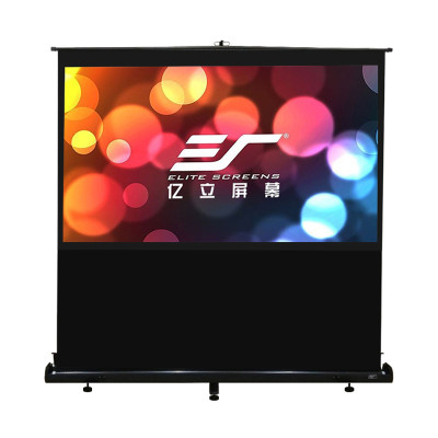 亿立(Elite Screens)F100NWH 100英寸16:9 白玻纤地拉式投影幕布 投影仪幕布