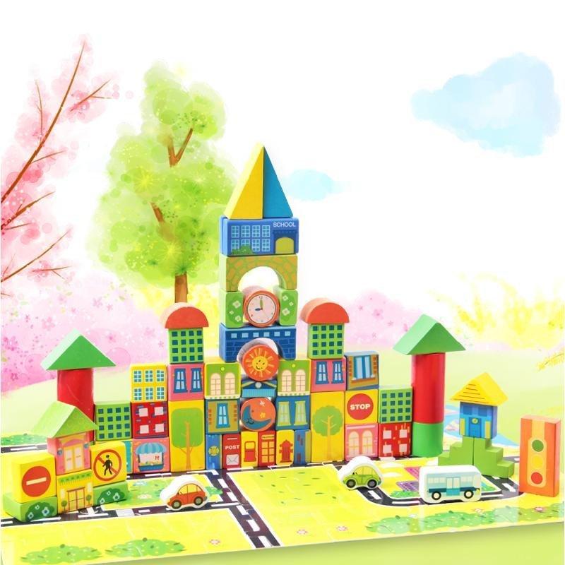小木质硕士玩具积木早教不会积木木制宝宝1-2-3岁-6周岁三个宝宝玩具月的宝宝益智玩儿童图片