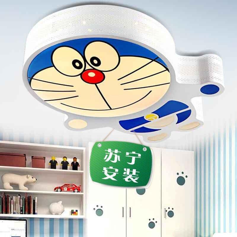 哆啦a梦led吸顶灯儿童创意房间卧室灯可爱卡通温馨叮当猫护眼灯具