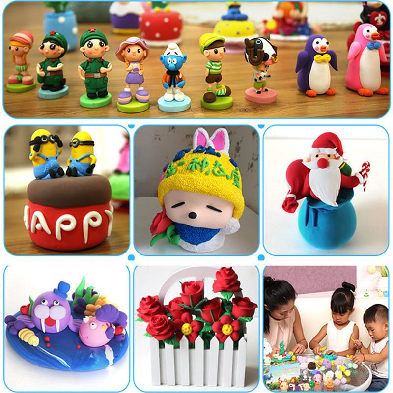 儿童24色收纳箱装手工彩泥超轻粘土太空橡皮泥diy制作套装玩具送男孩
