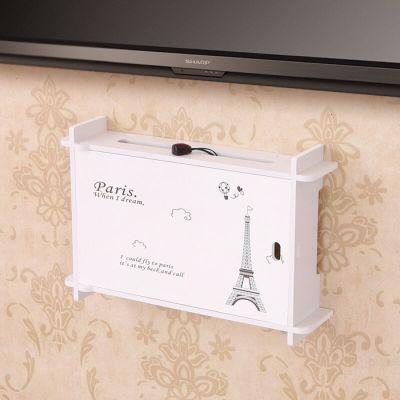 欣颖家居创意电视机顶盒架壁挂架插座遮挡收纳盒置物架框门开关wifi光猫装饰遮挡箱置物架