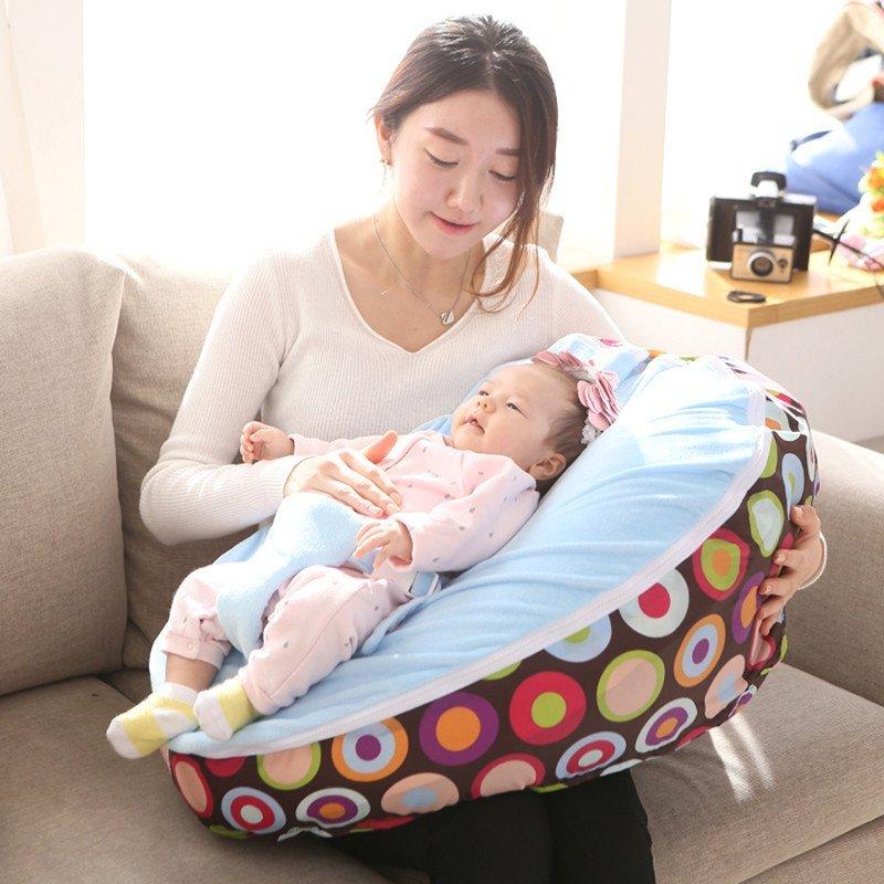 iizz韩国真品可爱婴儿懒人垫妈妈哺乳床摇篮防吐奶婴儿小沙发豆袋