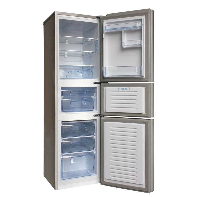 航天冰箱bcd-193ht3x 193升 三门冰箱 牡丹花白