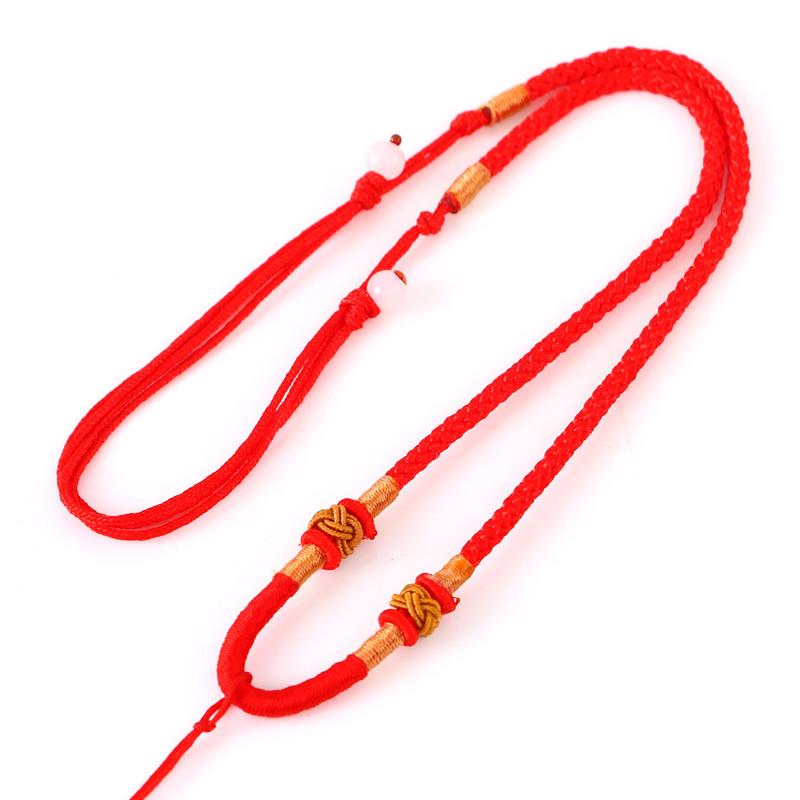 集祥阁 手工编织项链挂绳挂坠玉坠翡翠玉器黄金玉佩水晶吊坠挂件绳子