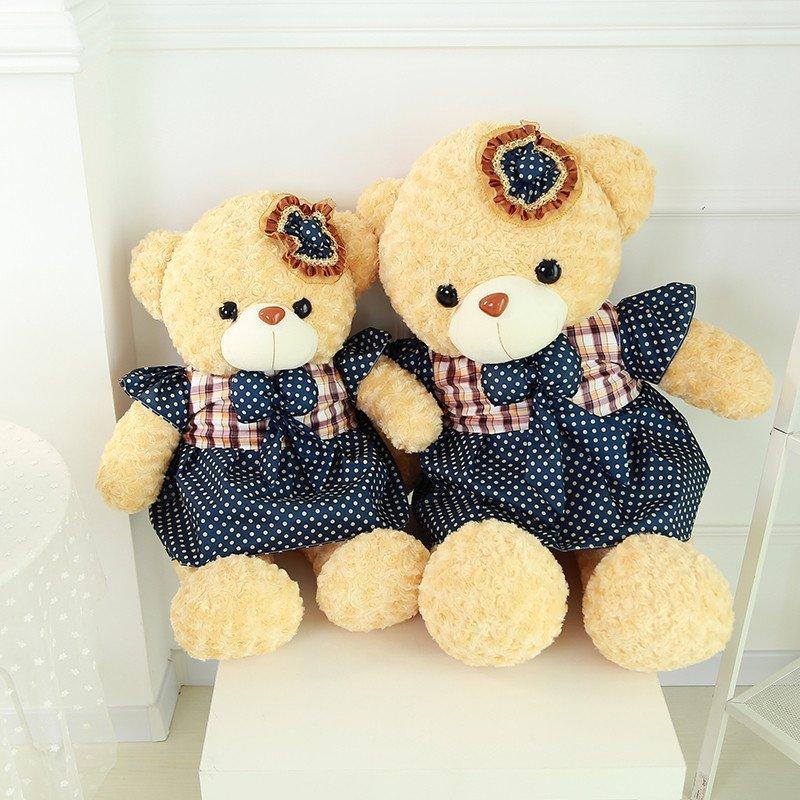 泰迪毛衣熊 毛绒玩具 牛仔熊 彩裙熊 玩偶公仔抱抱熊布娃娃